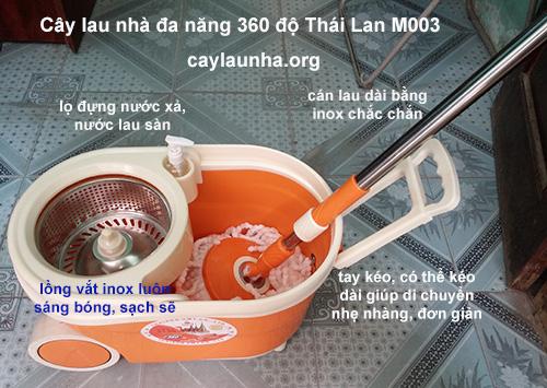 cây lau nhà 360 độ Thái Lan M003
