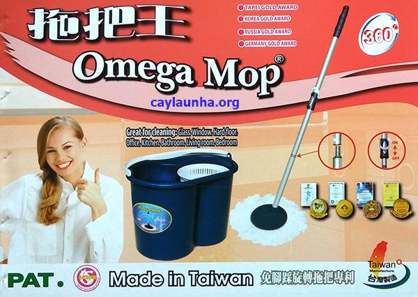 Cây lau nhà thông minh Omega Mop Đài Loan 360 độ