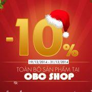 Khuyến mãi Noel giảm giá 10% khi mua cây lau nhà tại CTY OBC